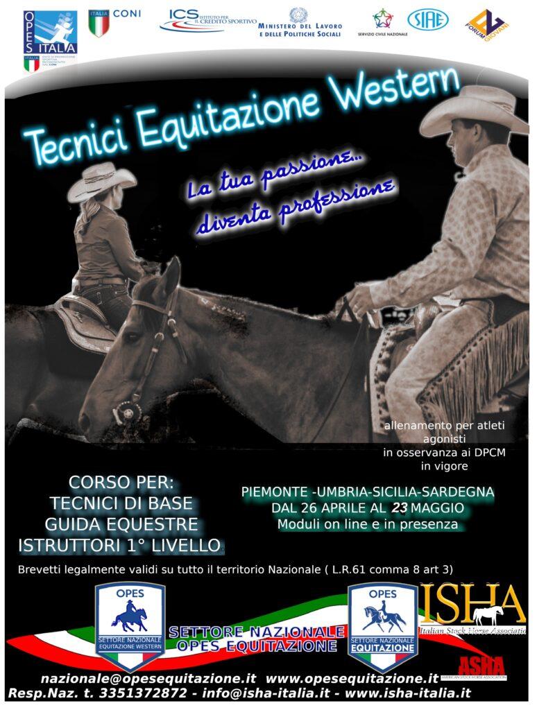 CORSO ISTRUTTORI MONTA WESTERN @ opes equitazione