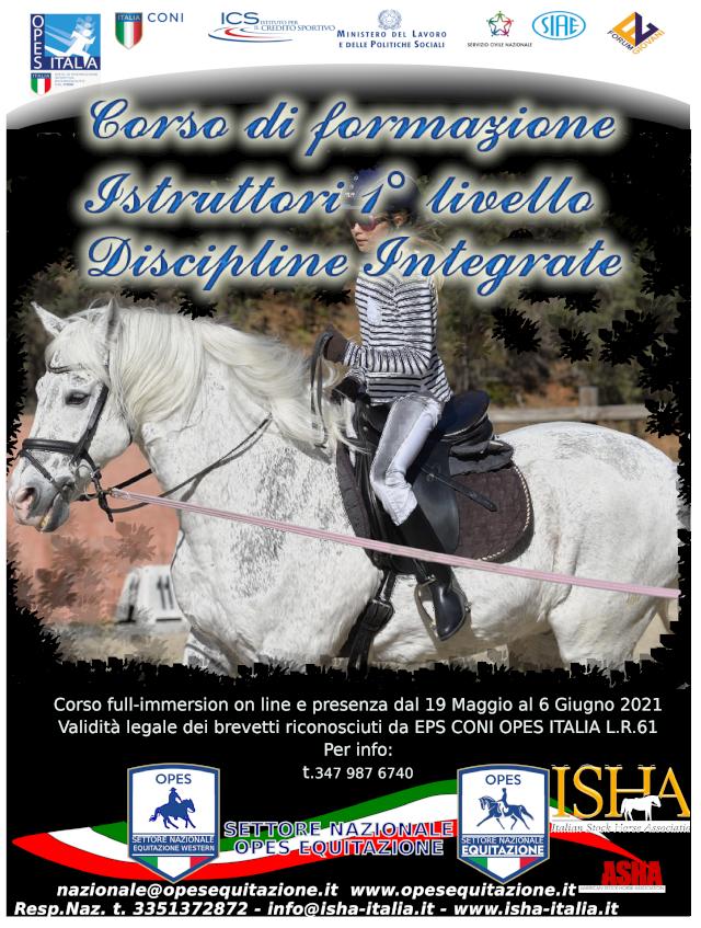 CORSO DI FORMAZIONE ISTRUTTORI 1° LIVELLO DISCIPLINE INTEGRATE @ opes equitazione