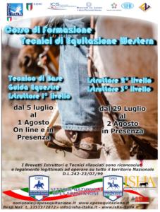 CORSO ISTRUTTORI 2° E 3 LIVELLO FORMATORI WESTERN E INGLESE @ opes equitazione